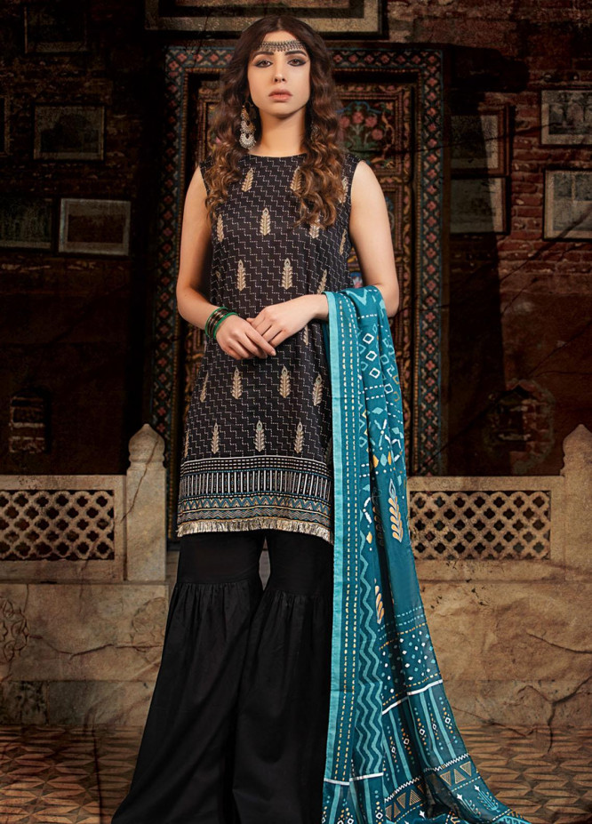 Dareechay By Lakhany Printed Lawn Suits Unstitched 3 Piece LSM21D 3014 - Summer Collection
