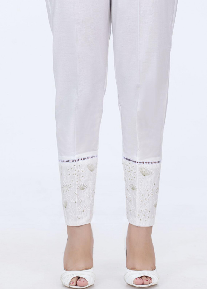 Lakhany Embroidered Cambric Pret Trousers LSM-2178 (W)