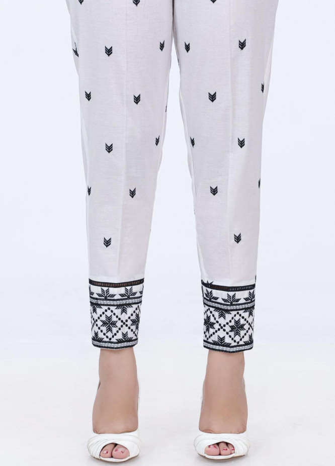 Lakhany Embroidered Cambric Pret Trousers LSM-2195