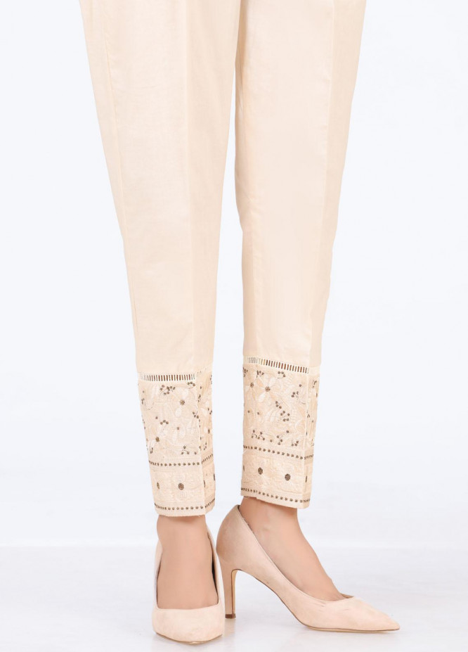 Lakhany Embroidered Cambric Pret Trousers LSM-T-2326(BG)