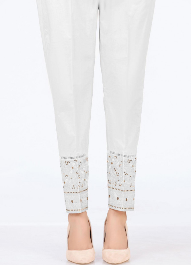 Lakhany Embroidered Cambric Pret Trousers LSM-T-2326(W)