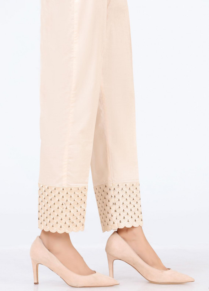 Lakhany Embroidered Cambric Pret Trousers LSM-T-2327(BG)