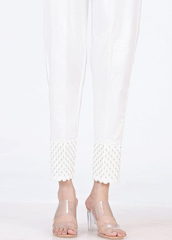 Lakhany Embroidered Cambric Pret Trousers LSM-T-2327(W)