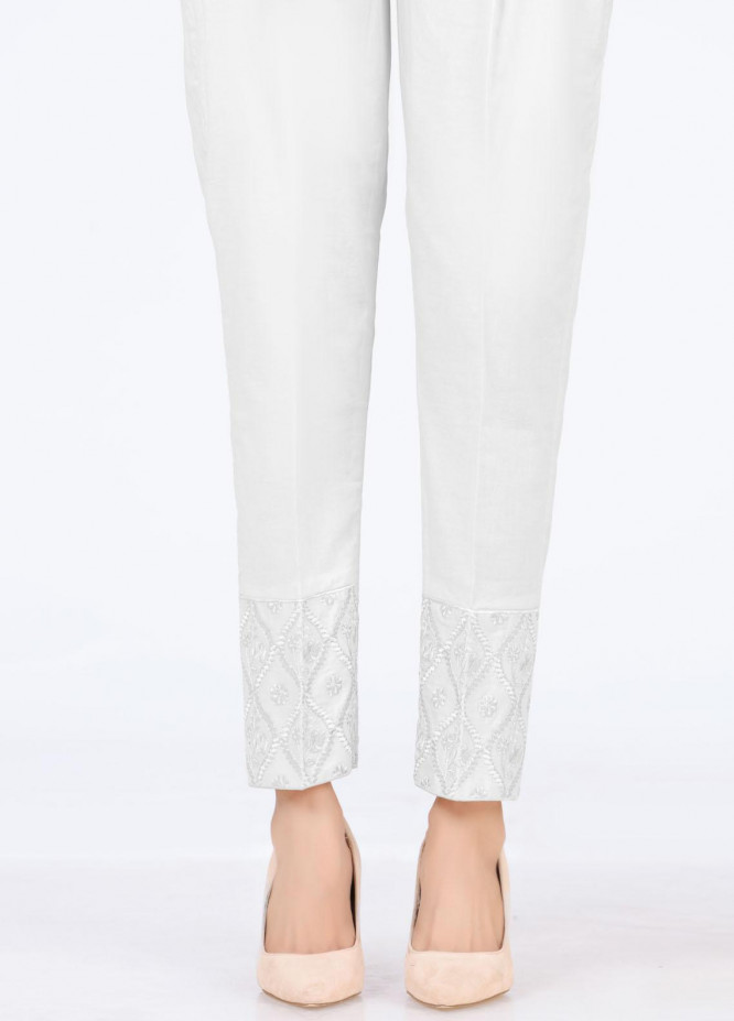 Lakhany Embroidered Cambric Pret Trousers LSM-T-2328(W)