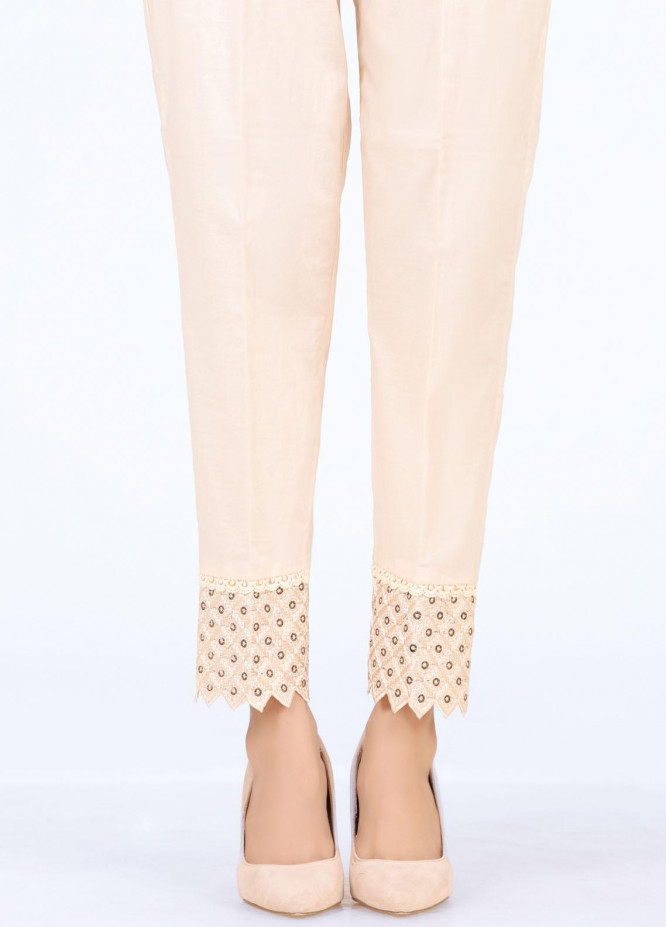 Lakhany Embroidered Cambric Pret Trousers LSM-T-2329(BG)