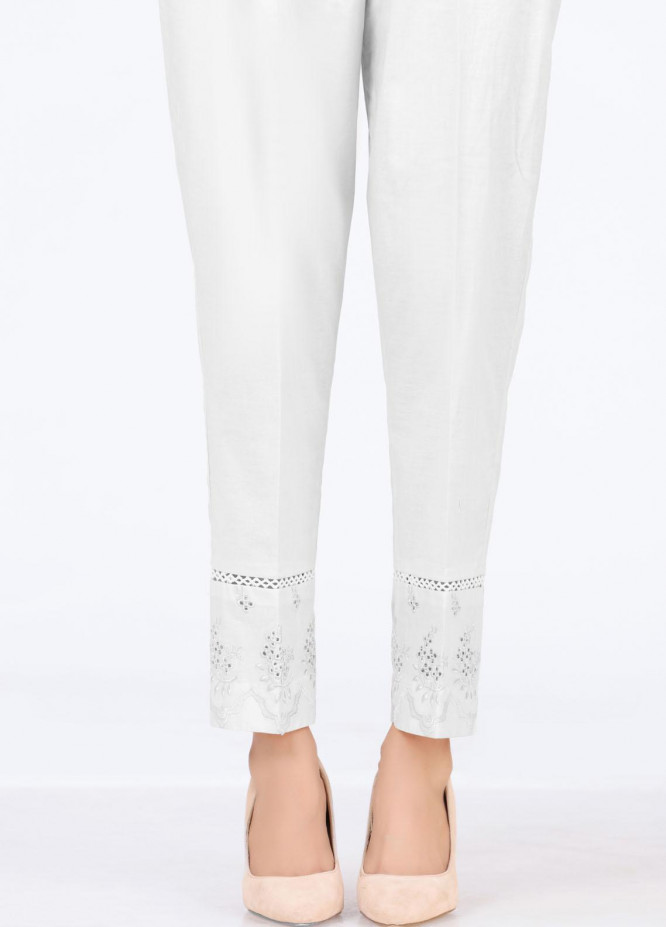 Lakhany Embroidered Cambric Pret Trousers LSM-T-2330(W)
