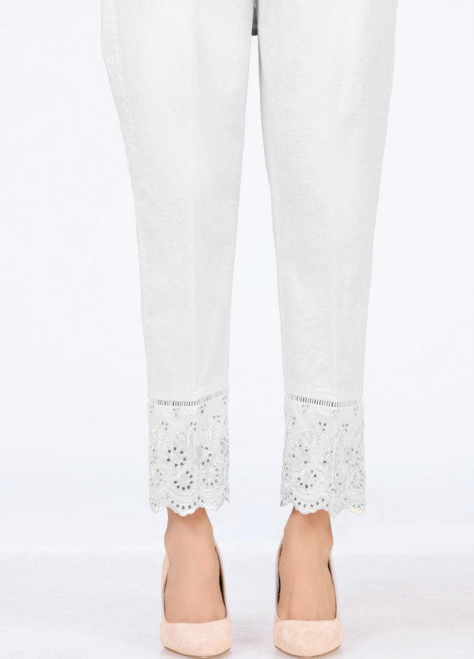 Lakhany Embroidered Cambric Pret Trousers LSM-T-2332(W)