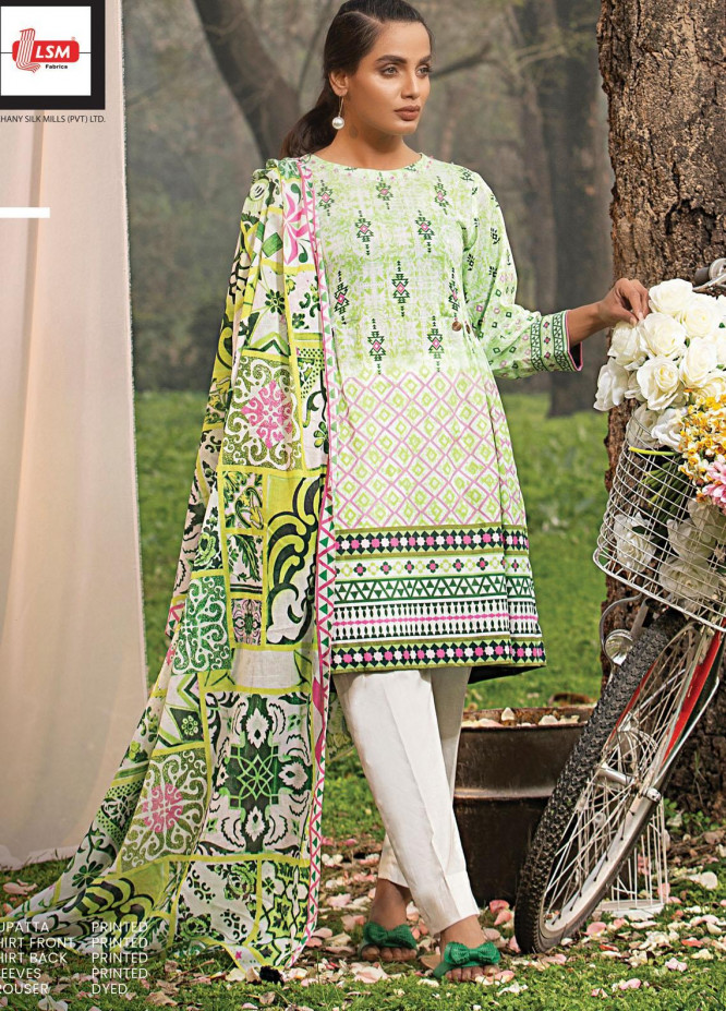 Komal By Lakhany Printed Lawn Unstitched 3 Piece Suit LSM21K 2003B - Summer Collection