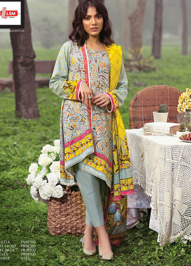 Komal By Lakhany Printed Lawn Unstitched 3 Piece Suit LSM21K 2008A - Summer Collection