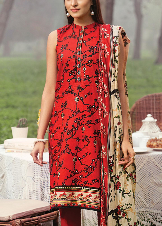 Komal By Lakhany Printed Lawn Unstitched 3 Piece Suit LSM21K 2010A - Summer Collection