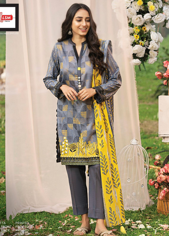 Komal By Lakhany Printed Lawn Unstitched 3 Piece Suit LSM21K 2012A - Summer Collection