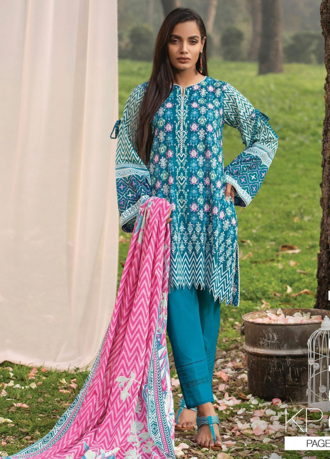 Komal By Lakhany Printed Lawn Unstitched 3 Piece Suit LSM21K 2013A - Summer Collection