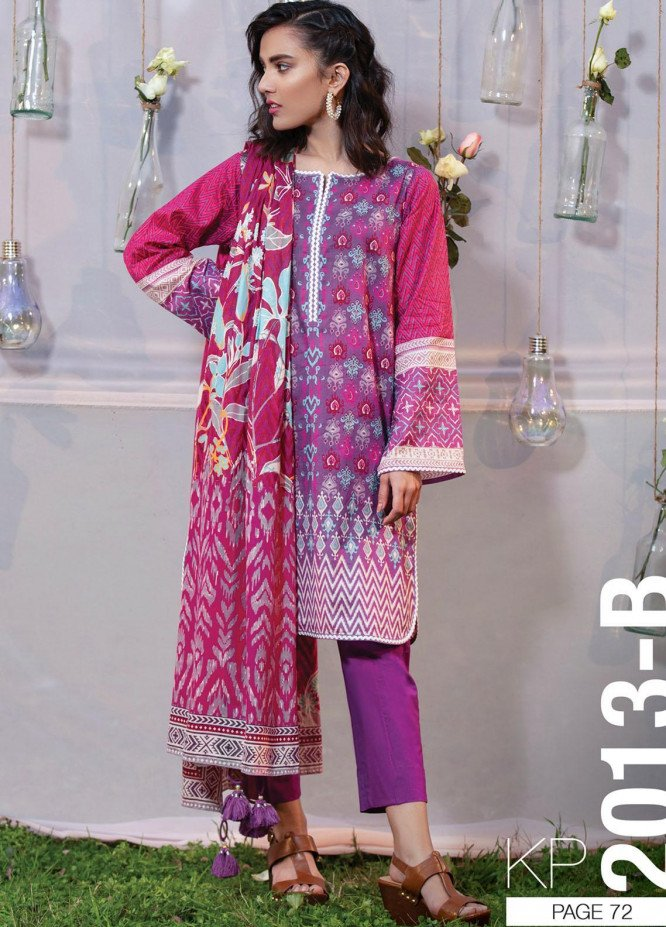 Komal By Lakhany Printed Lawn Unstitched 3 Piece Suit LSM21K 2013B - Summer Collection