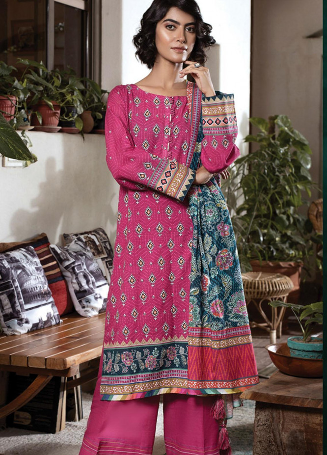 Lakhany Printed Khaddar Suits Unstitched 3 Piece LSM21KK KPW-514 - Winter Collection