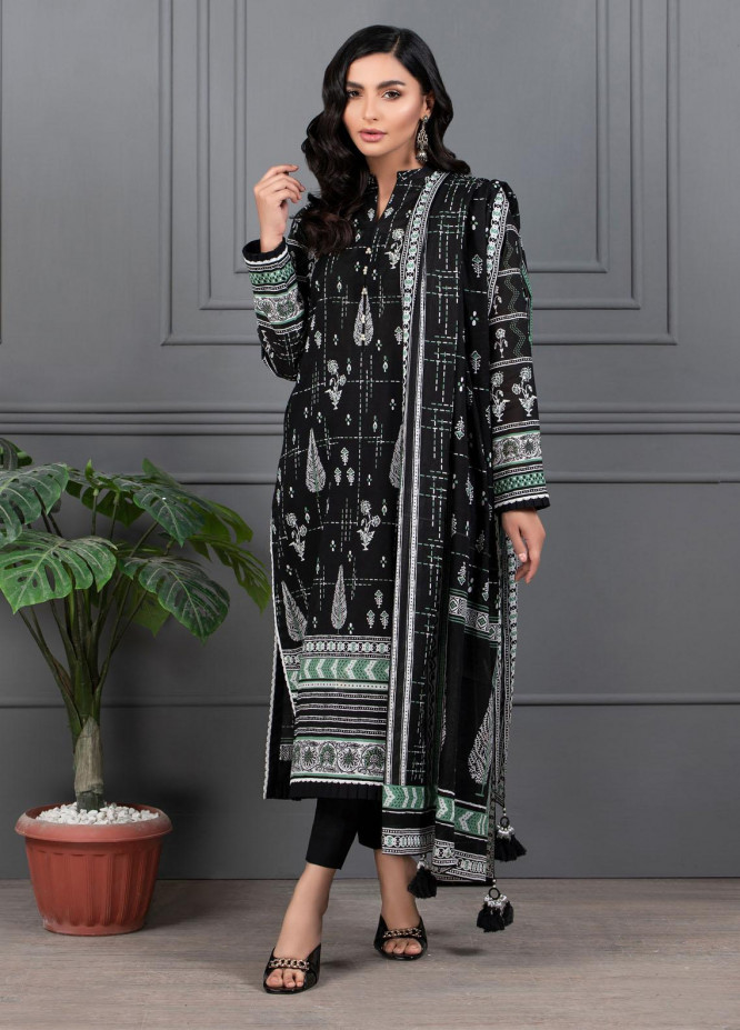 Monochrome By Lakhany Printed Lawn Suits Unstitched 3 Piece LSM21M 7011 - Summer Collection