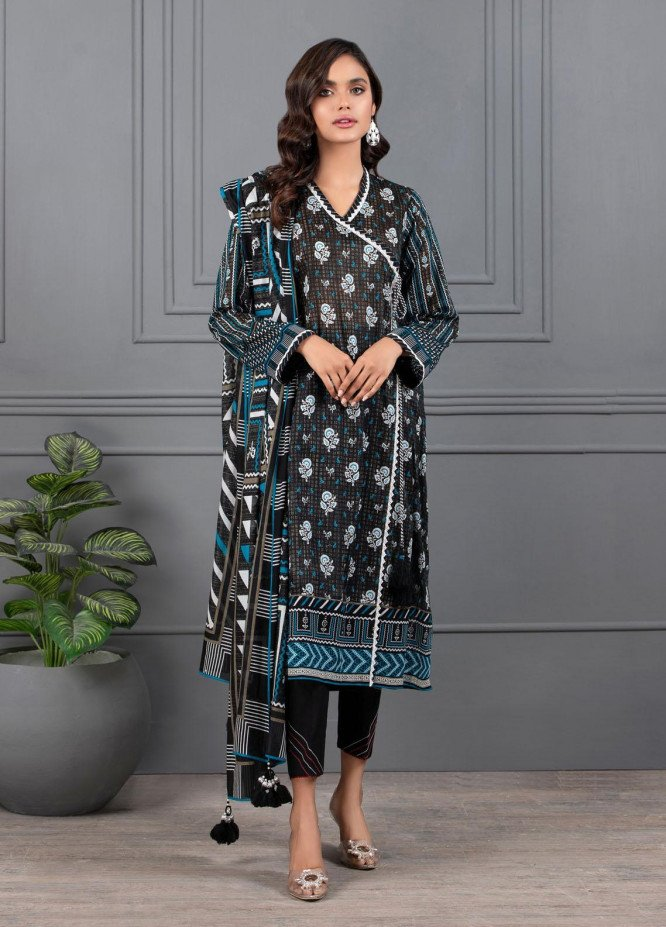 Monochrome By Lakhany Printed Lawn Suits Unstitched 3 Piece LSM21M 7012 - Summer Collection