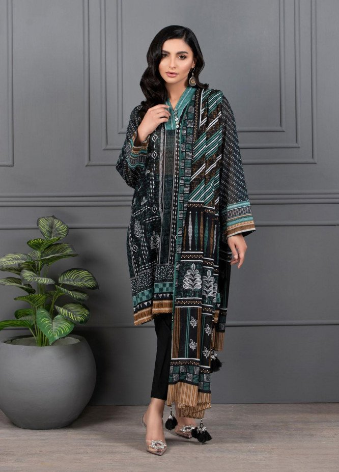 Monochrome By Lakhany Printed Lawn Suits Unstitched 3 Piece LSM21M 7013 - Summer Collection