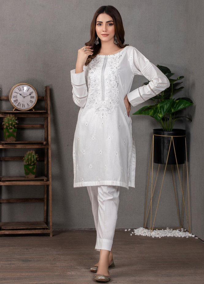 Lakhany Pret Embroidered  Cotton Kurties LSM21CW LSM-2099