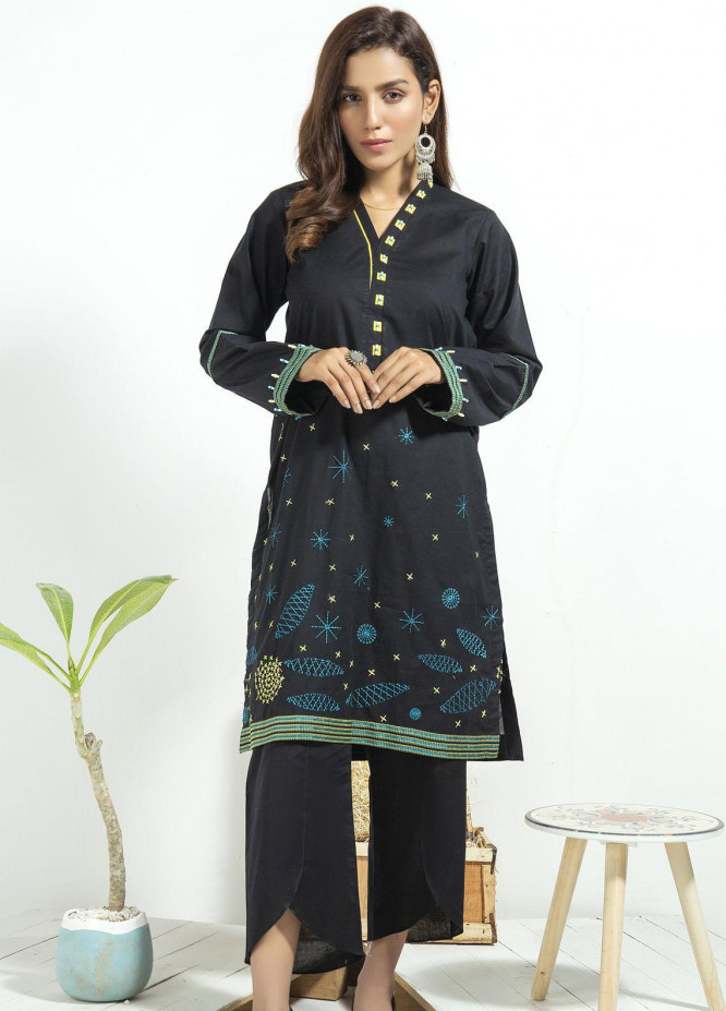 Lakhany Embroidered Cambric Stitched Kurtis LSM20CK LSM-1923