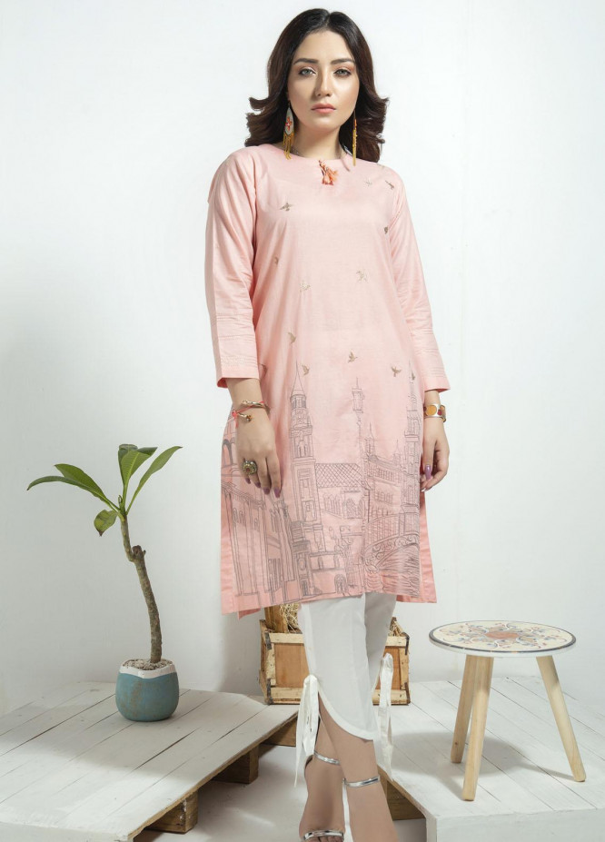 Lakhany Embroidered Cambric Stitched Kurtis LSM20CK LSM-1924