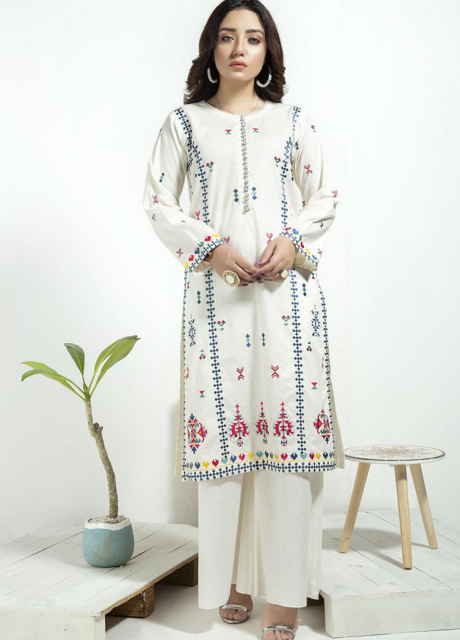 Lakhany Embroidered Cambric Stitched Kurtis LSM20CK LSM-1925