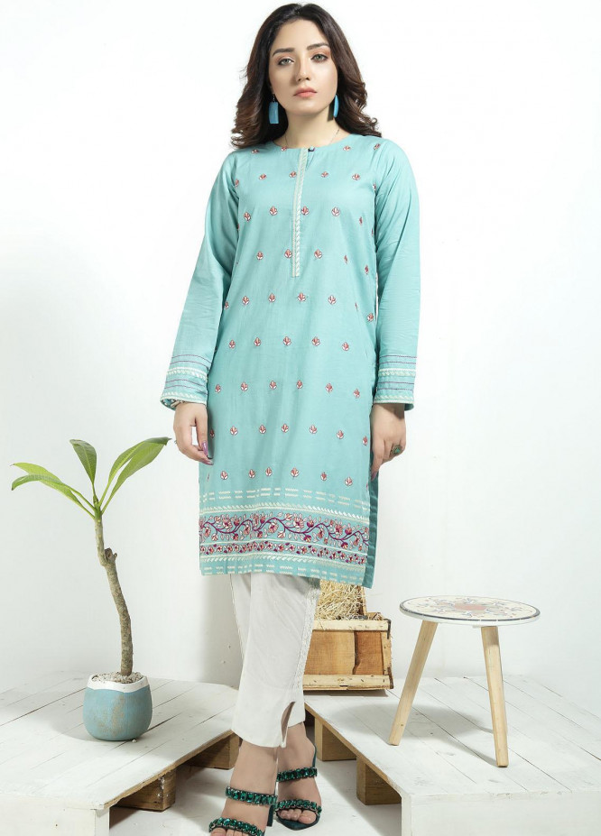 Lakhany Embroidered Cambric Stitched Kurtis LSM20CK LSM-1926