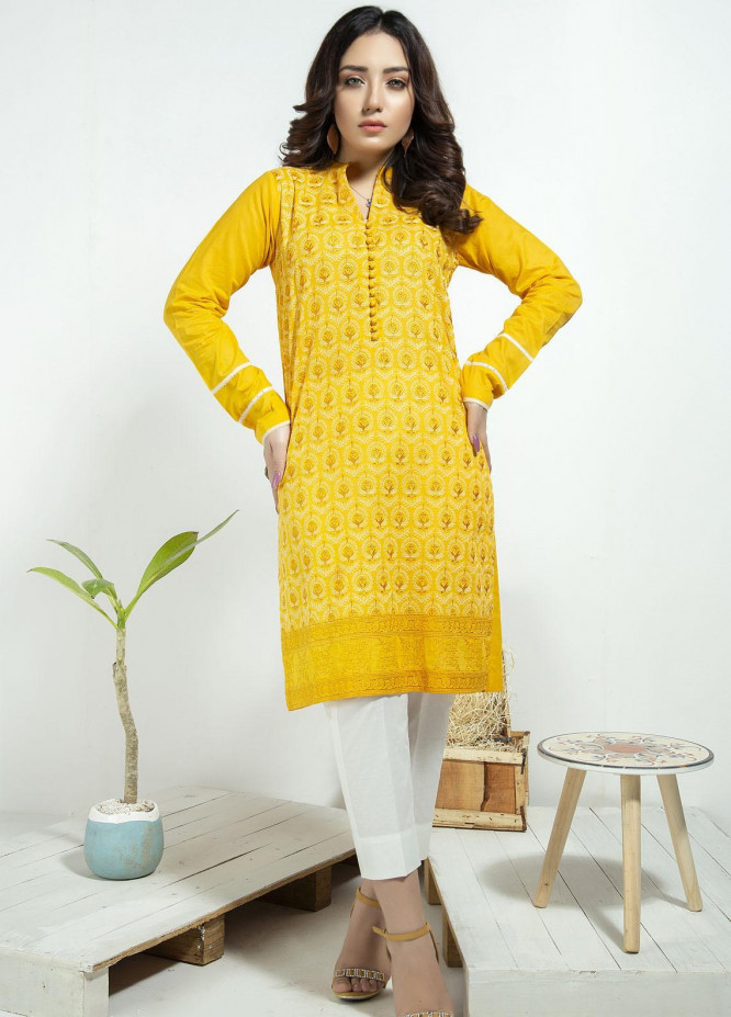 Lakhany Embroidered Cambric Stitched Kurtis LSM20CK LSM-1928