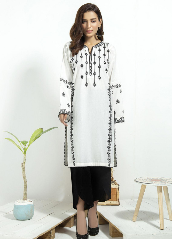Lakhany Embroidered Cambric Stitched Kurtis LSM20CK LSM-1929