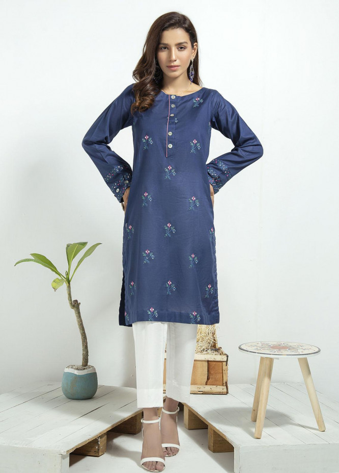 Lakhany Embroidered Cambric Stitched Kurtis LSM20CK LSM-1937