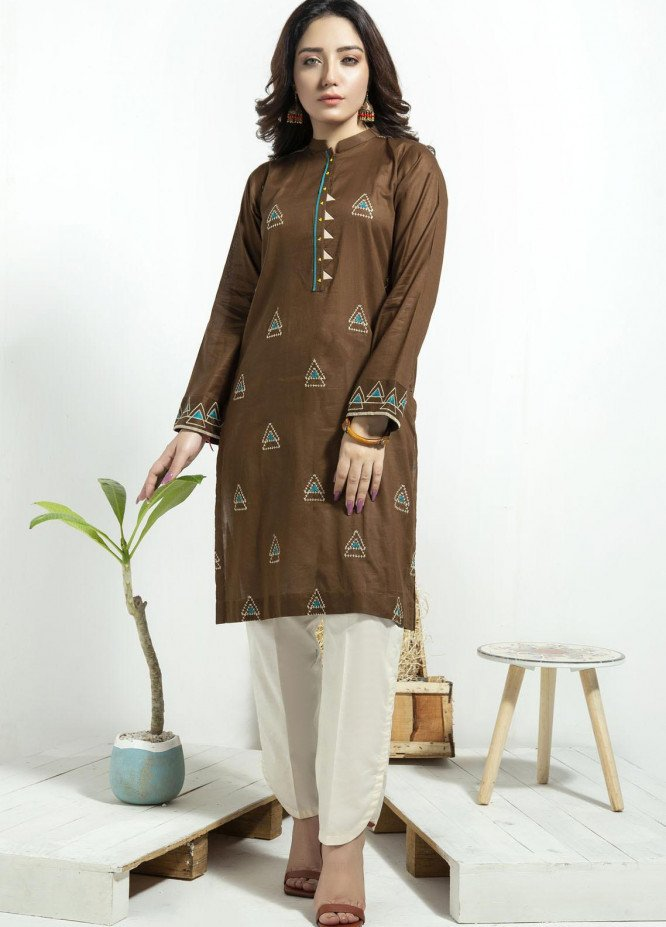 Lakhany Embroidered Cambric Stitched Kurtis LSM20CK LSM-1938
