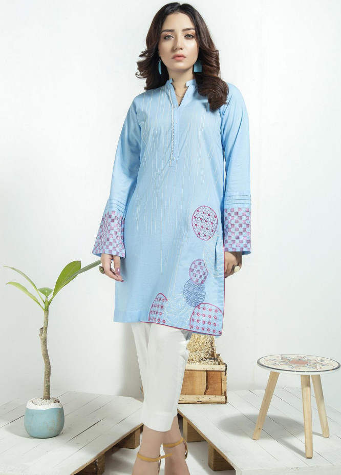 Lakhany Embroidered Cambric Stitched Kurtis LSM20CK LSM-1939