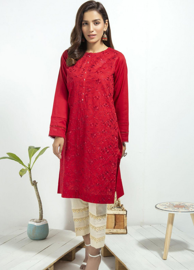 Lakhany Embroidered Cambric Stitched Kurtis LSM20CK LSM-1940