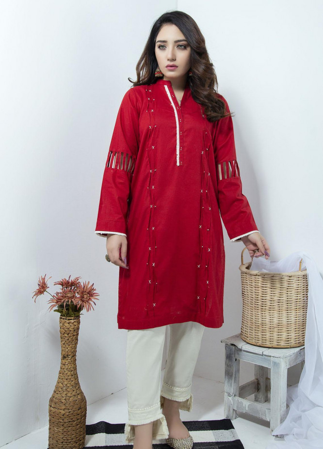 Lakhany Embroidered Cambric Stitched Kurtis LSM20LK LSM-1880