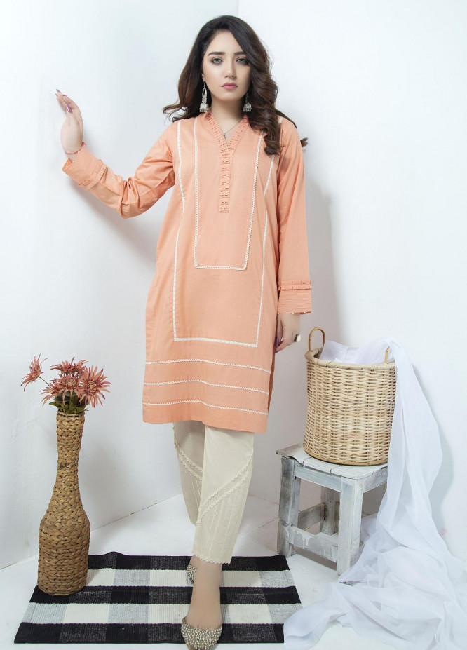 Lakhany Embroidered Cambric Stitched Kurtis LSM20LK LSM-1884