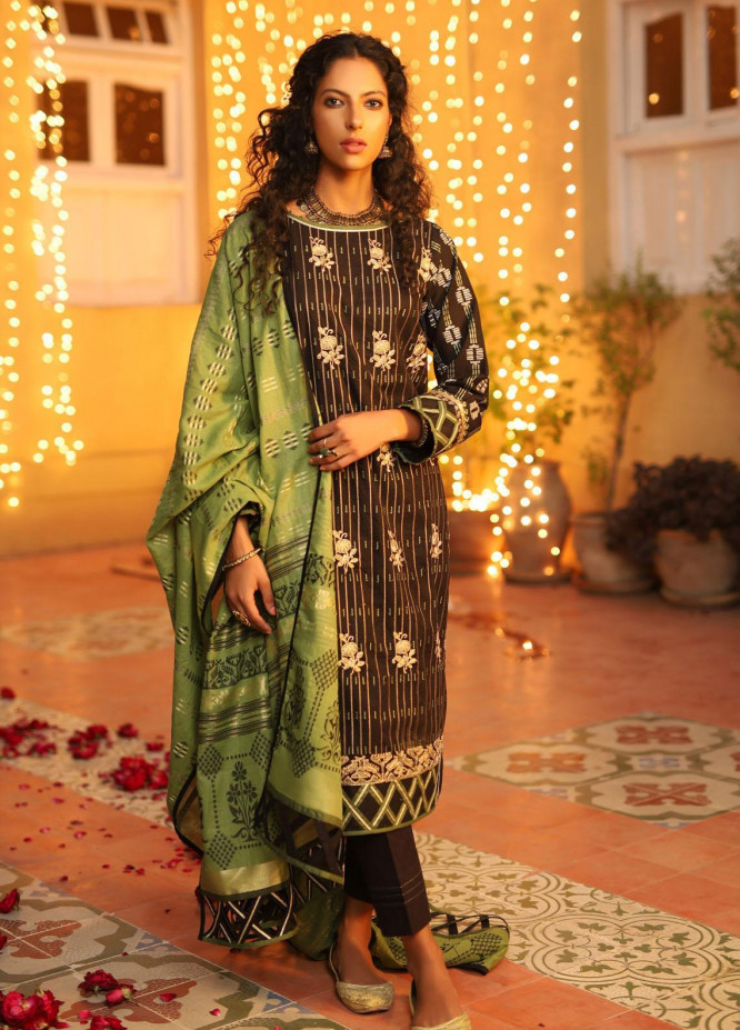 Shehnai By Lakhany Embroidered Woven Suits Unstitched 3 Piece LSM21SH 9815 - Festive Collection