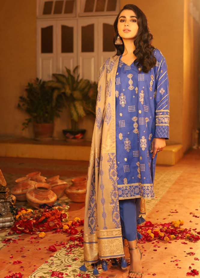 Shehnai By Lakhany Embroidered Woven Suits Unstitched 3 Piece LSM21SH 9816 - Festive Collection