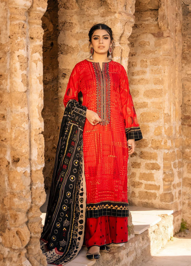 Lakhany Embroidered Lawn Suits Unstitched 3 Piece LSM21S BP-2042 - Summer Collection