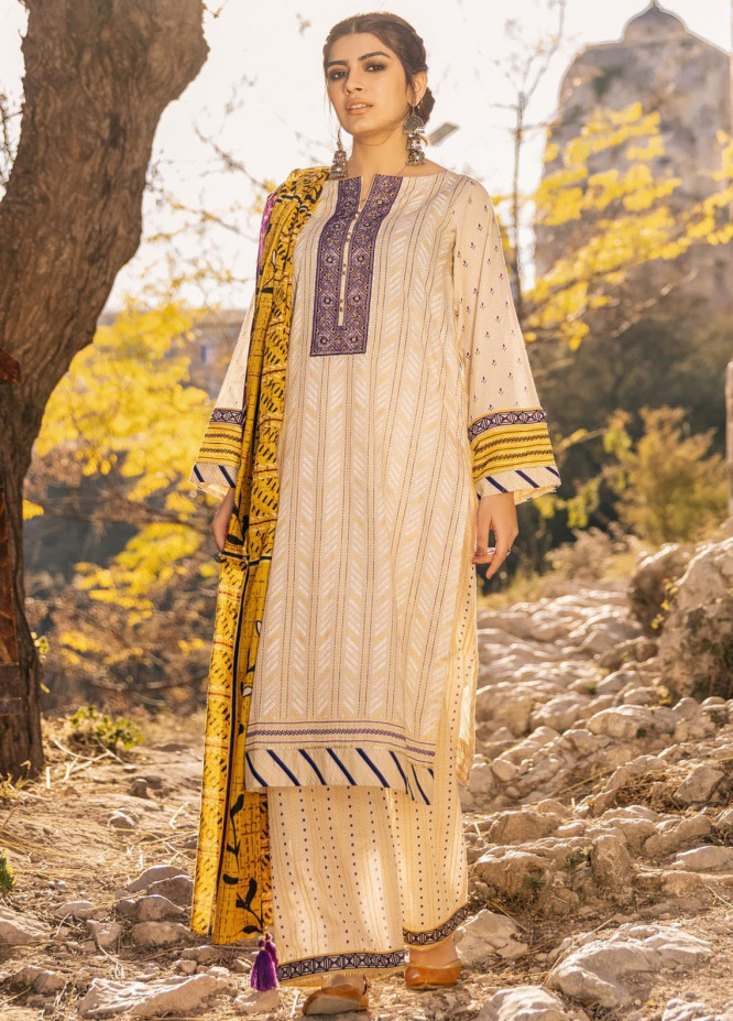 Lakhany Embroidered Lawn Suits Unstitched 3 Piece LSM21S BP-2045 - Summer Collection