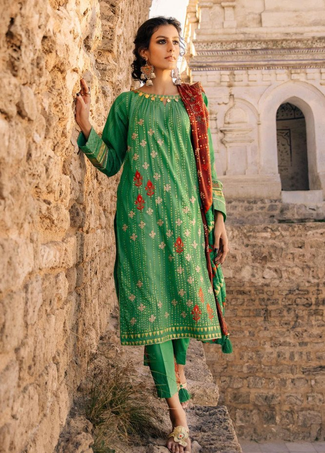 Lakhany Embroidered Lawn Suits Unstitched 3 Piece LSM21S BP-2046 - Summer Collection