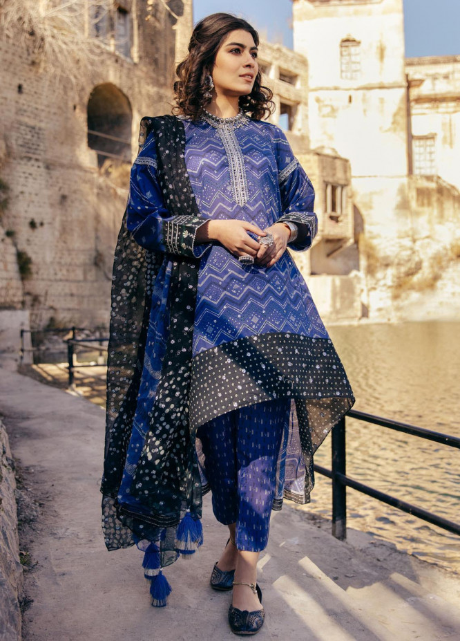 Lakhany Embroidered Lawn Suits Unstitched 3 Piece LSM21S SG-2101 - Summer Collection