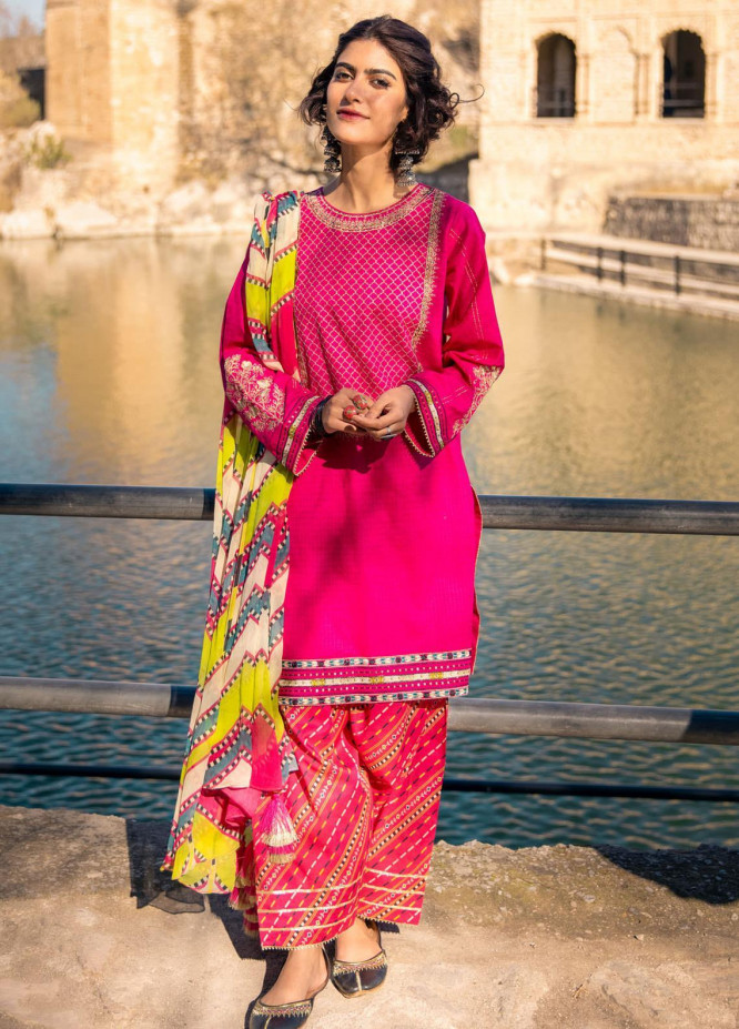 Lakhany Embroidered Jacquard Suits Unstitched 3 Piece LSM21S SG-2105 - Summer Collection