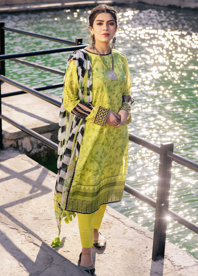 Lakhany Embroidered Lawn Suits Unstitched 3 Piece LSM21S SG-2110 - Summer Collection