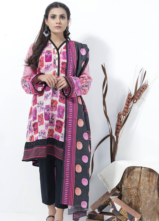 Lakhany Printed Lawn Suits Unstitched 2 Piece LSM21SP SD-2143 - Summer Collection