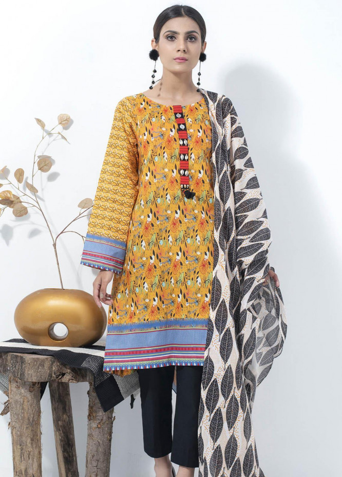 Lakhany Printed Lawn Suits Unstitched 2 Piece LSM21SP SD-2144 - Summer Collection