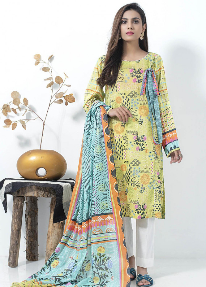 Lakhany Printed Lawn Suits Unstitched 2 Piece LSM21SP SD-2148 - Summer Collection