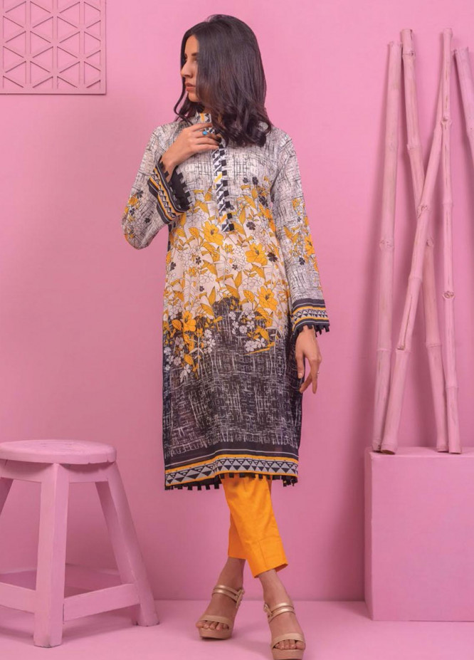 Lamha by Tarzz Printed Lawn  Unstitched Kurties TZ21L SS-1-02 - Spring / Summer Collection