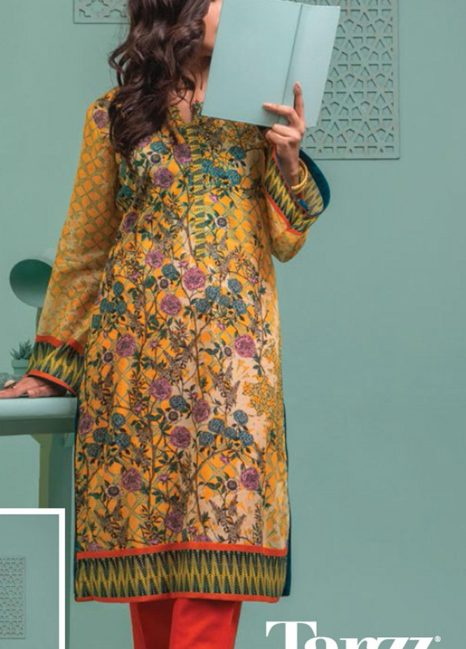 Lamha by Tarzz Printed Lawn  Unstitched Kurties TZ21L SS-1-05 - Spring / Summer Collection