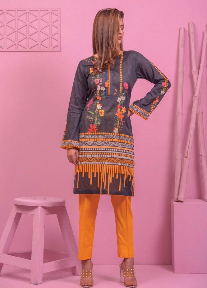 Lamha by Tarzz Printed Lawn  Unstitched Kurties TZ21L SS-1-08 - Spring / Summer Collection