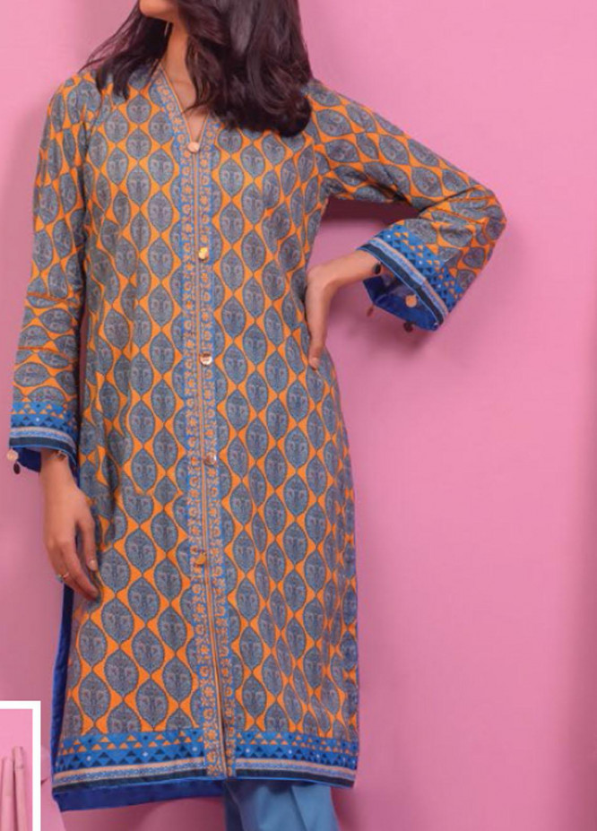 Lamha by Tarzz Printed Lawn  Unstitched Kurties TZ21L SS-1-11 - Spring / Summer Collection