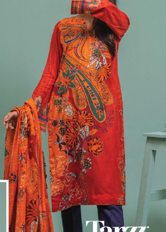 Lamha by Tarzz Printed Lawn Suits Unstitched 2 Piece TZ21L SS-2-01 - Spring / Summer Collection